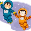 Royalty-Free Stock Photo: Space Kids