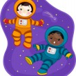 Space Kids — Stockfoto