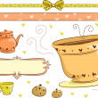 Tea Time Border — Stock Photo
