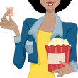Movie Girl - Stock Photo