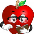 Apple Reading a Book -  