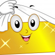 Gold Bar Mascot — Stock Photo