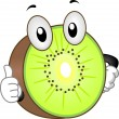 Kiwi Mascot - Lizenzfreies Foto