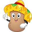Potato Mascot - Stok fotoraf