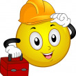 Hard Hat Smiley - Lizenzfreies Foto