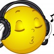 Music Loving Smiley — Stockfoto