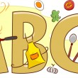 Cooking Alphabet - Lizenzfreies Foto