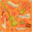 Stock Photo: Musical Instruments Background