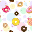 Doughnuts Background — 图库照片