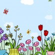 Flowers Background — 图库照片