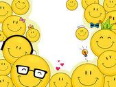 Smileys Background — Stock Photo