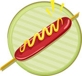 Hotdog Icon — Stock Photo