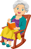 Senior Rocking Chair — Stock Photo