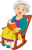 Senior Rocking Chair — Stock Photo