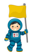 Astronaut Boy — Stock Photo