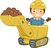 Bulldozer Kid — Stock Photo