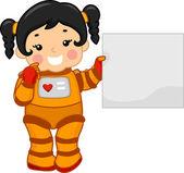 Astronaut Girl — Stock Photo