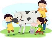 Milk Kids — Stock Photo
