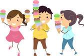 Ice Cream Kids — Stock Photo