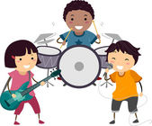 Kiddie Band — Stockfoto