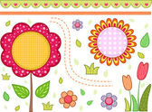 Floral Border — Stock Photo