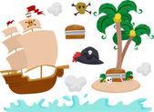 Pirate Elements — Stock Photo