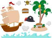 Pirate Elements — Stock Photo