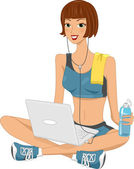 Laptop Girl — Stock Photo