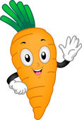 Carrot Mascot — Stock Photo