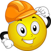 Hard Hat Smiley — Stock Photo