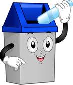 Çöp can maskot — Stok fotoğraf