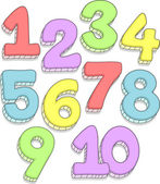Number Doodles — Foto de Stock