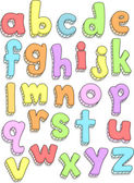 Alphabet Doodles — Stock Photo