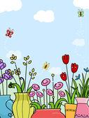 Flowers Background — Stock Photo