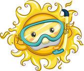 Sun Snorkeler — Stock Photo