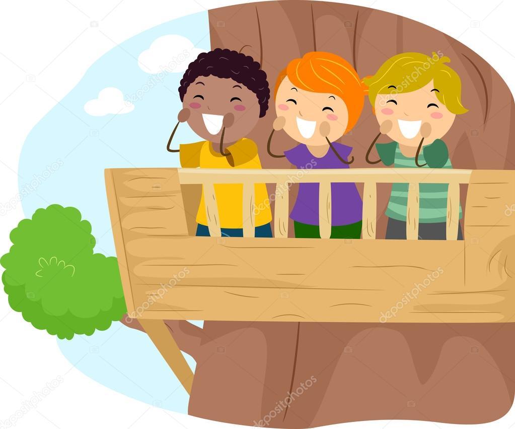 Дети - иллюстрация - балкона - ребенка - kid - векторная гра.