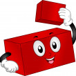 Building Block Mascot — Stock Photo