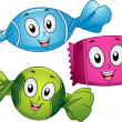 Candies Mascot — Stock Photo