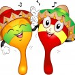 Maracas Mascot - Stock Photo