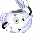 Teapot Mascot - Stock Photo