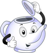 Teapot Mascot — Stock Photo