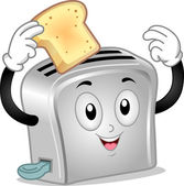 Toaster Mascot — Stock Photo