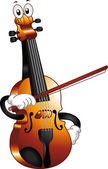 Violin Mascot — Stock Photo
