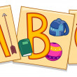 Alphabet Flashcards - Stock Photo