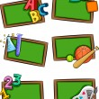 Stock Photo: School Subjects Icons