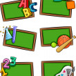 School Subjects Icons — Stock Photo