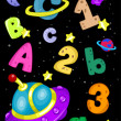 Outer Space Alphabet — Stock Photo