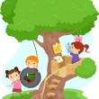 Treehouse Kids - Stockfoto