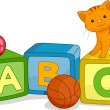 Alphabet Learning Blocks — Stock Photo