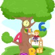 Treehouse Reading - Stockfoto